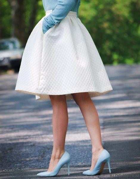 Midi skirt - love colour combination, like a modern Cinderella