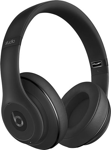 Beats by Dr. Dre - Beats Studio2 Wireless Over-the-Ear Headphones - Black - Angle