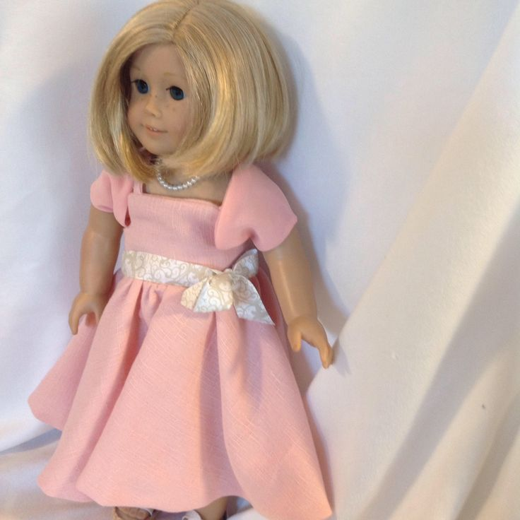A personal favorite from my Etsy shop https://www.etsy.com/ca/listing/566740597/gown-to-fit-18-dolls-such-ad-american