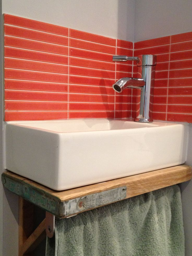 Recycled Scaffold Board Sink Shelf By Frederickdesigns