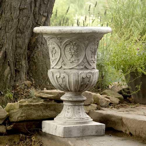 Orlandi Statuary Inc. Lippie Urn Fiberglass   Cathedral White Finish. Urn  PlantersOutdoor ...