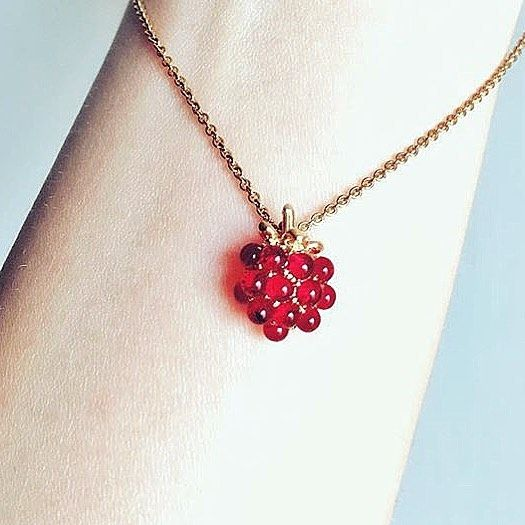🌿:: The Raspberry Pendant || Was £45 - Now £15 :: 🌿  We ❤️ @lin_cc_lin picture of our raspberry pendant - it looks good enough to eat! Thanks for sharing lovely. ✨ . . . #BillSkinner #raspberry #raspberries #rubyred #handcarved #jewellerylovers #design #style #craft #fruity #wildberry #hiddengarden #gardenofengland