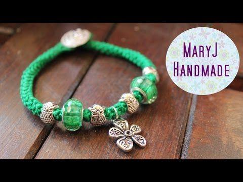 ▶ How to crochet a bracelet | 3d romanian point lace cord - YouTube