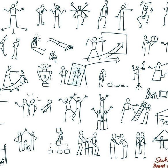 Add Body, Hands, and Feet to Your Stick Men