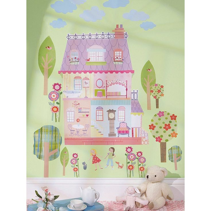This Wallies Wall Play 'Play House' can provide your child with the fun of a dolls house without the expense, whilst doubling up as a stylish wall mural.