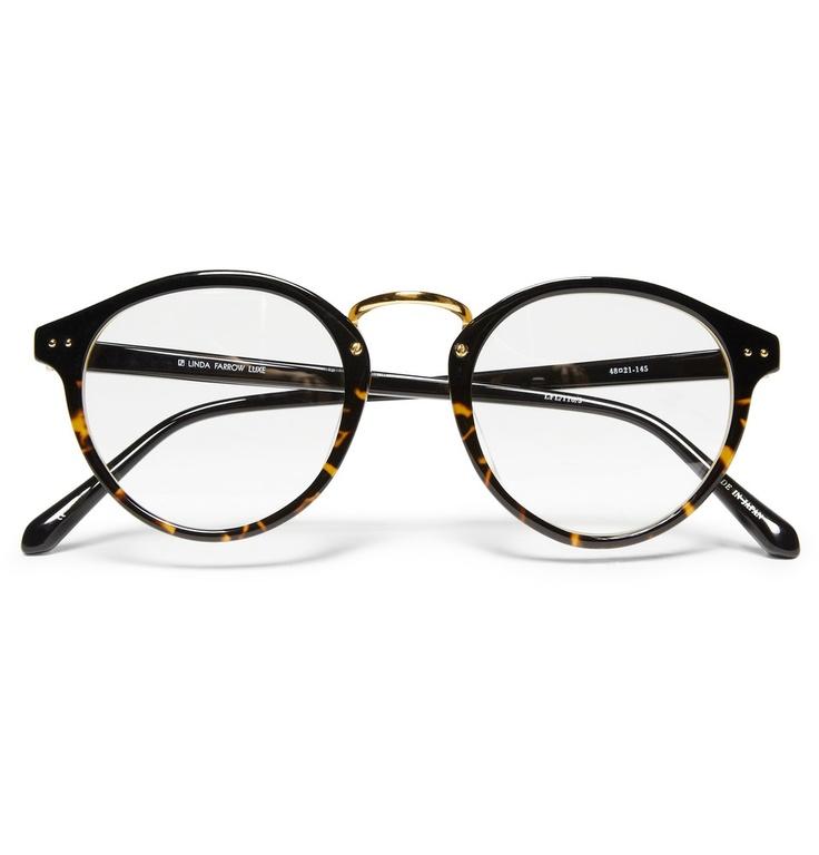 Round Glasses Frame Black : LINDA FARROW LUXE ROUND-FRAME GLASSES oCULOS Pinterest