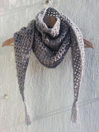 La ventana azul: .- Chal Baktus a crochet. Tutorial