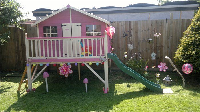 The Mad Dash 400 Lollipop Tower Playhouse Collection - Wooden Playhouses - Garden Buildings Direct