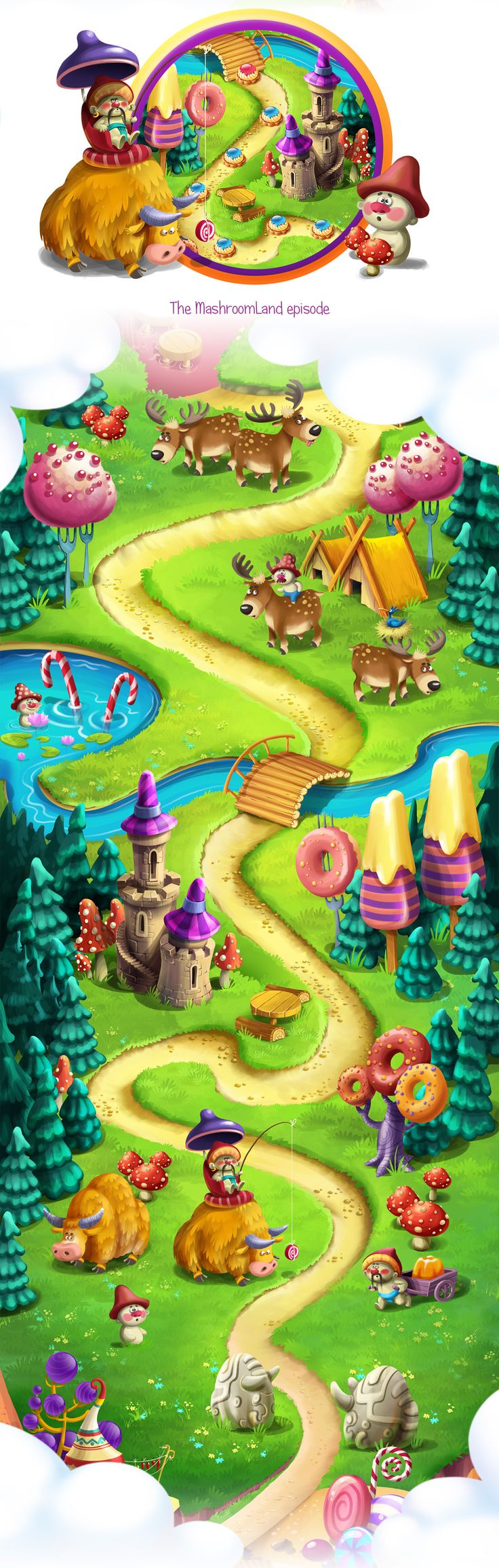 Make a journey to a magical Candy Land cramfull with gingerbread houses and…