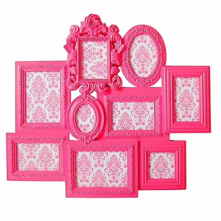 Porta Retrato de Parede - Barroco Romantic Frames Rosa
