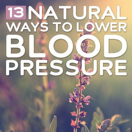 Natural Ways To Bring Down My Blood Pressure
