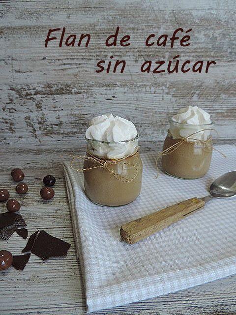Flan de café sin azúcar   Cocina