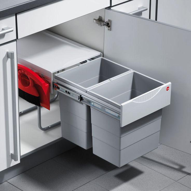 Hailo Raumspar-Tandem Comfort 3641-22 Mülleimer 2 x 20 Liter   Hailo Mülleimer   Mülleimer   Nordsee Küchen