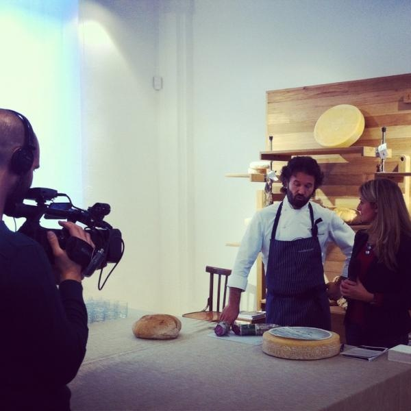 Carlo Cracco interview presenting #MIGustoTortona reinventing the street food during #salone2012