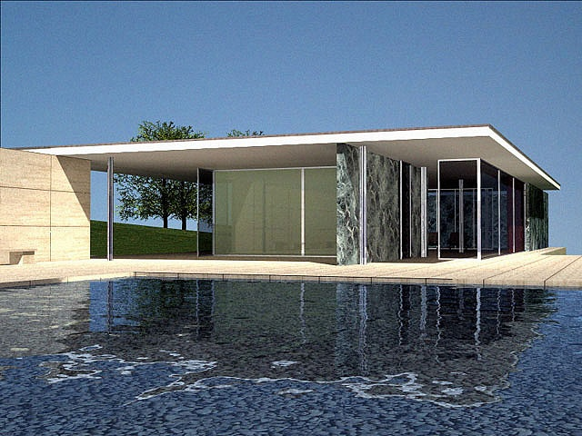 Mies Van Der Rohe. Pavilion @ the Barcelona World Fair 1929