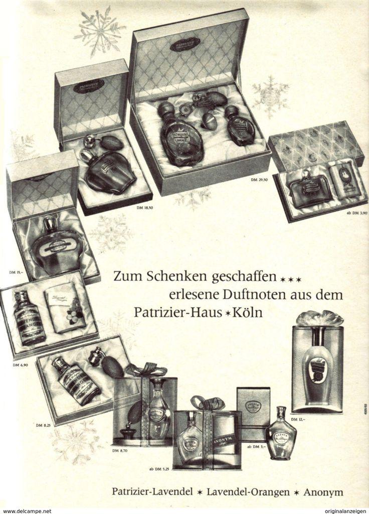 Original-Werbung/ Anzeige 1962 - 1/1 Seite - PATRIZIER LAVENDEL / ORANGEN PARFÜM - Ca. 200 X 280 Mm - Werbung