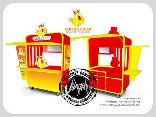 Desain Logo   Logo Kuliner    Desain Gerobak   Jasa Desain dan Produksi Gerobak   Branding: Desain Gerobak Fried Chicken Chick and Chick