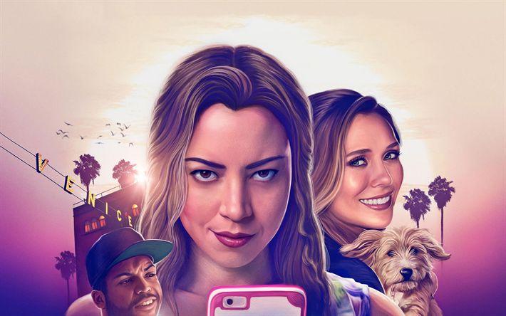 Lataa kuva Ingrid Menee Länteen, komedia, juliste, 2017 elokuvia, Elizabeth Olsen, Aubrey Plaza