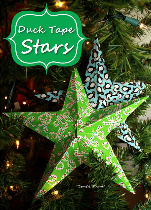 How to make Duck Tape stars. Cute idea for filling holes in between the branches of your Christmas tree.