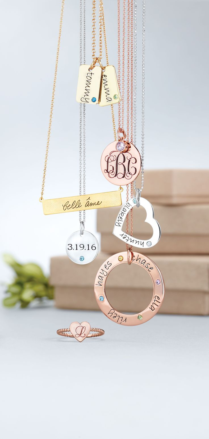 Get personal with POSH birthstone and engravable jewelry.