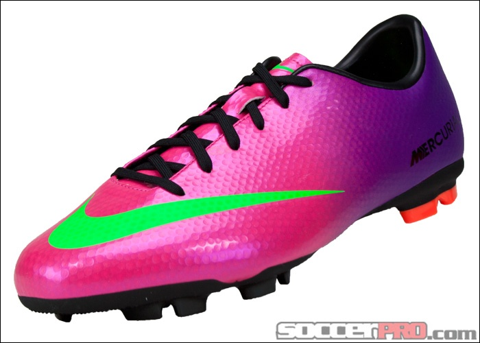 huge selection of 167a4 ae4bc ... Nike Youth Mercurial Victory IV FG Soccer Cleats - Fireberry with Red  Plum. ...