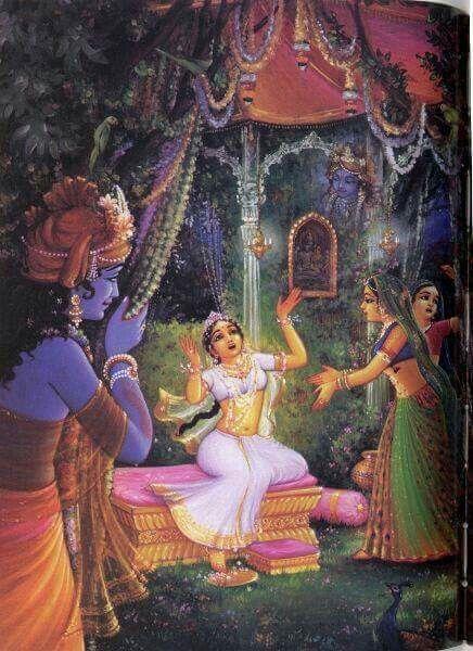 Krishna hides to increase the  loving hankerings of gopis for Him.