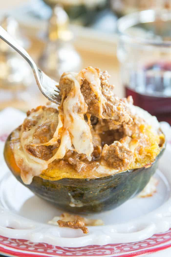 Lasagna Stuffed Acorn Squash Roasted Squash Filled With A Hearty