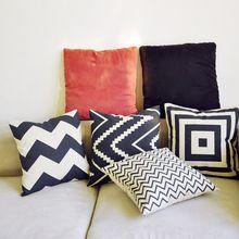 Бесплатная доставка 1 шт. новый 2015 IKEA Zakka абстрактных геометрических полосатый хлопок чехол диван чехлы подарки deocraiton(China (Mainland))