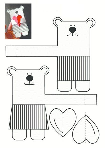 Поделки с детьми: делаем мишку ко Дню Святого Валентина