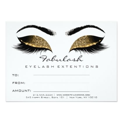 lashes browns gold makeup certificate gift white card faux gifts style sample design cyo - Eyelash Extension Gift Certificate Template