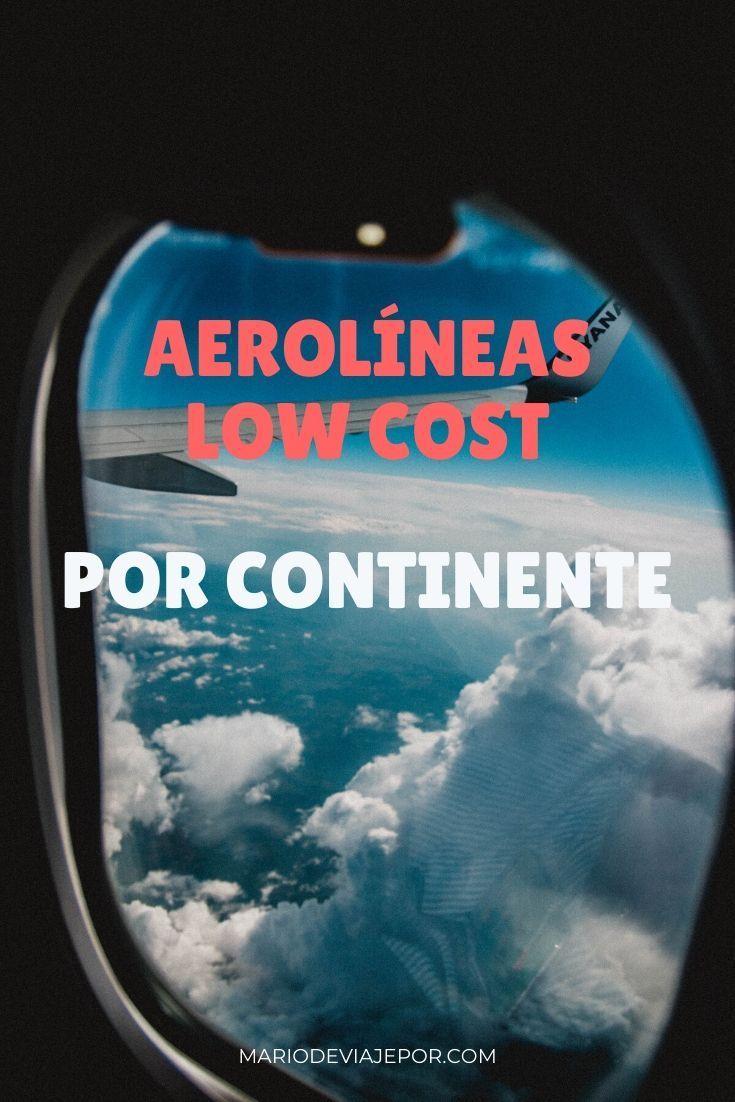 Aerolineas Low Cost Por Continente