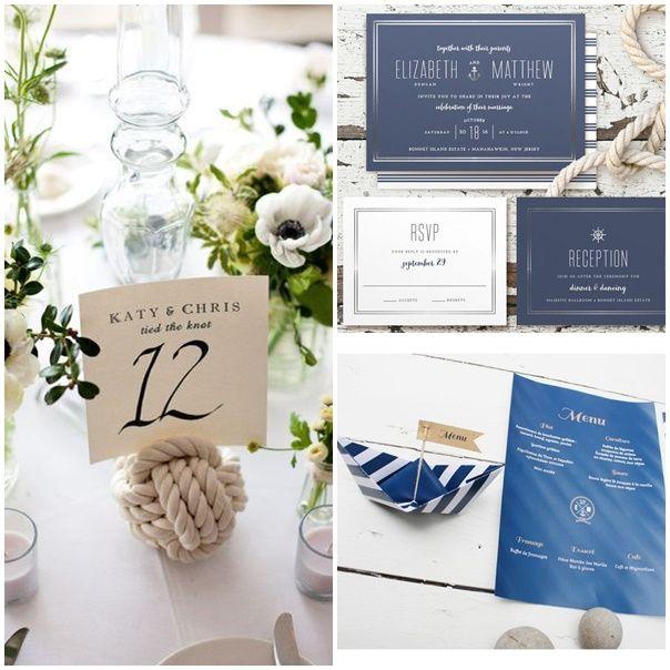 Montage mariage bord de mer decoration table et faire part