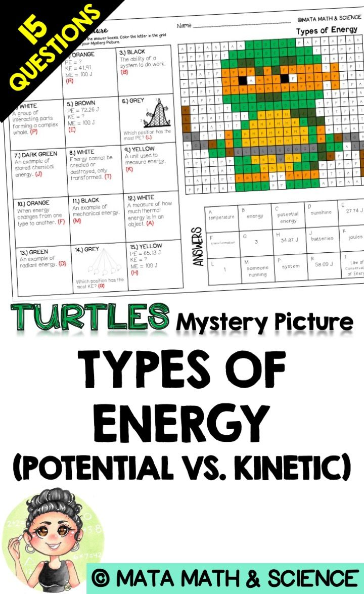 Types Of Energy Potential Vs Kinetic Science Mystery Picture