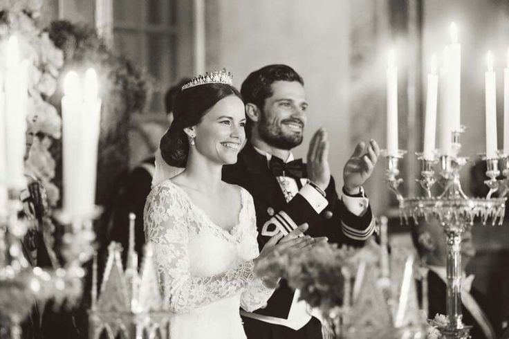 The happy couple. Prince Carl-Philip of Sweden and Princess Sofia