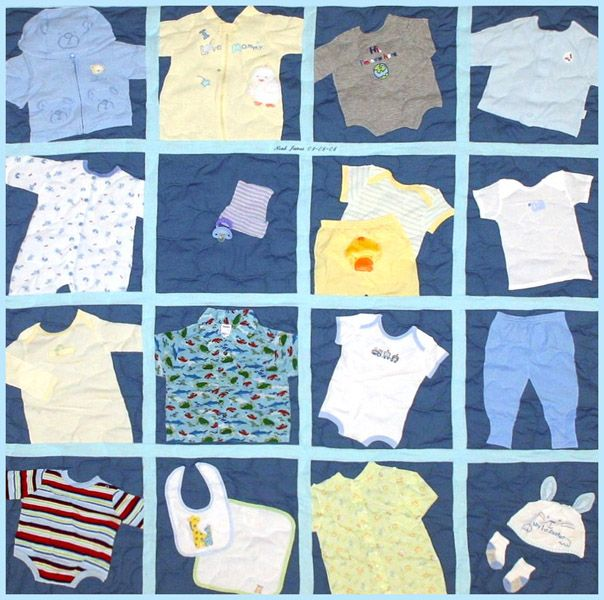 1000+ Images About Baby Clothes Quilts On Pinterest