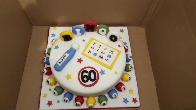 60th Bingo birthday cake