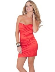 #Strapless Sweetheart Pleated Evening Cocktail  party fashion #2dayslook #new style #partyforwomen  www.2dayslook.com