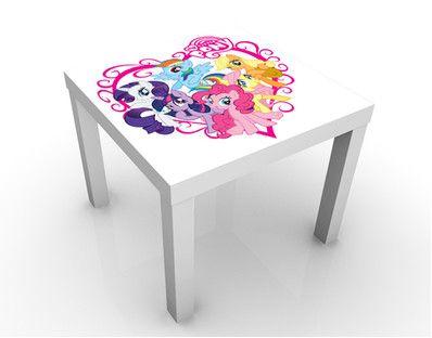 Sweet My Little Pony Heart Design Table. Twin Bedroom IdeasBedroom ...