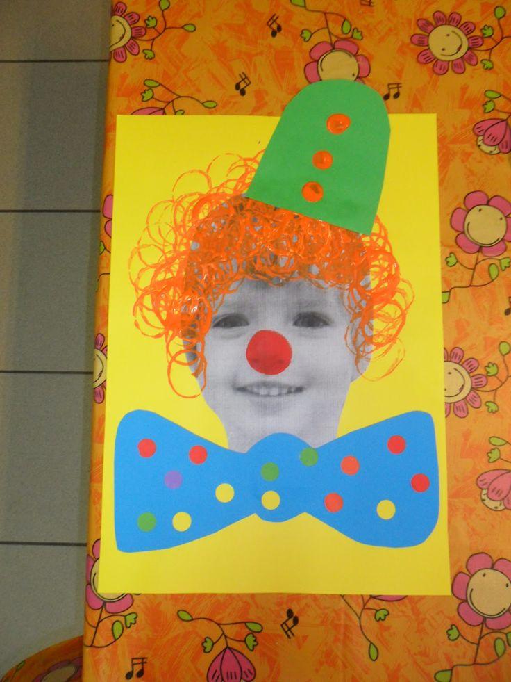 gevonden op http://peuterthema.blogspot.be  Clown maken.