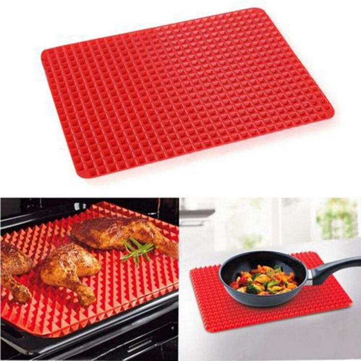 Home Use Red Pyramid Bakeware Pan Nonstick Silicone Baking Mats Pads Moulds Cook