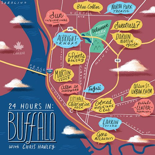Some of my favorite Buffalo things in this guide!  24 Hours in Buffalo from @Design*Sponge