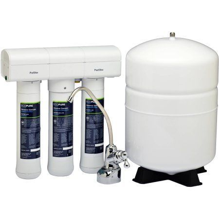 EcoPure ECOP30 No Mess Reverse Osmosis Water Filter System, NSF Certified, Premium Water Filtration System
