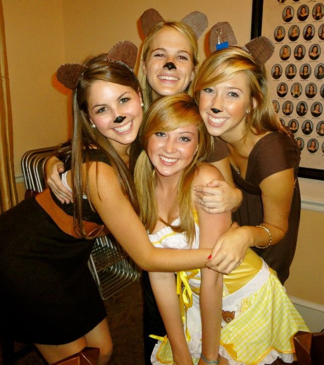 """Goldilocks and the Three Bears costumes. Perf for my friends and I now that we are """"that age"""" of being too old for trick or treating. How about a Halloween Party?!"""