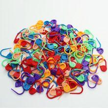 10 unids/bolsa mezcló Color Mini suéter que hace punto de plástico marcadores Holder Clip de la aguja de bloqueo herramientas de costura de puntadas y accesorios(China (Mainland))