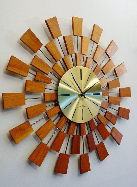Mid century  Starburst Clock by Seth Thomas Mid by ClubModerne, $310.00