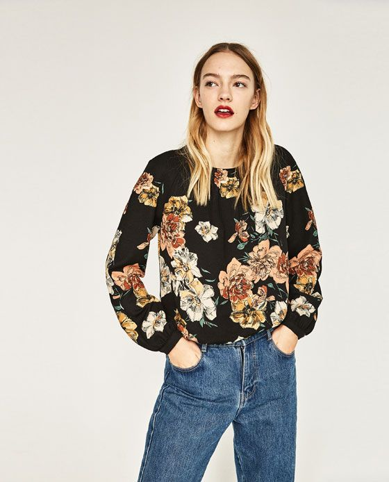 Image 2 of FLORAL PRINT TOP from Zara