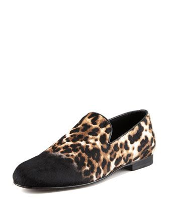 Ombre Leopard-Print Calf Hair Slipper by Jimmy Choo at Neiman Marcus.