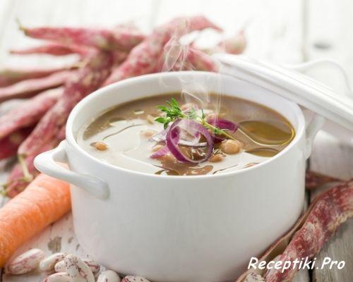 Постные рецепты: суп из белой фасоли