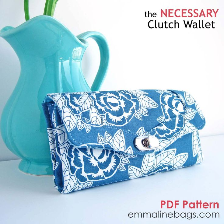 The Necessary Clutch Wallet  Sewing Pattern:  A Large wallet with card slots and room for your Cell Phone by EmmalineBags on Etsy https://www.etsy.com/listing/127996673/the-necessary-clutch-wallet-sewing