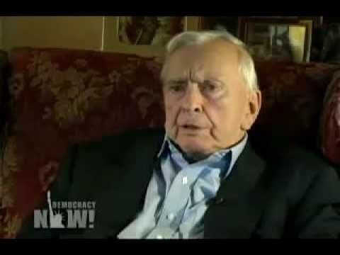 """ore Vidal - acclaimed American author, historian, and political analyst - offers a scathing assessment of George Bush's Presidency. He explains how the Bush Administration viewed the American public as """"idiots"""", used 9/11 as a pretext to mount a coup against the republic, and implemented a """"perpetual war for perpetual peace"""" strategy."""